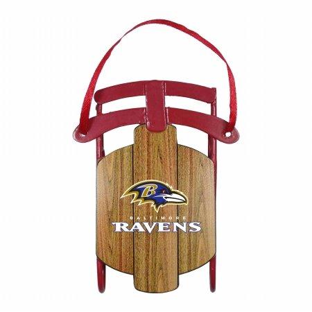 Baltimore Ravens Ornament - Metal Sled
