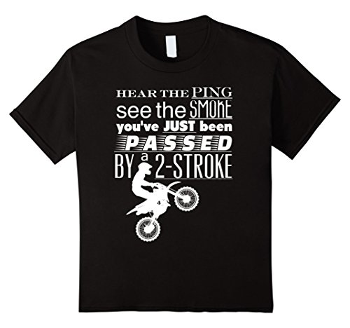 Kids Dirt Bike See the Smoke Just Passed By A 2-Stroke T-...