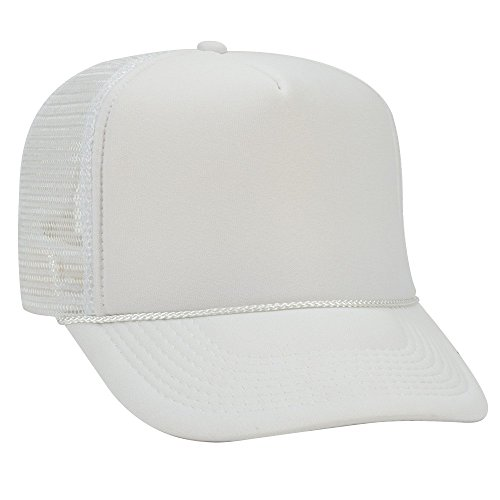 OTTO Polyester Foam Front 5 Panel High Crown Mesh Back Trucker Hat - ()