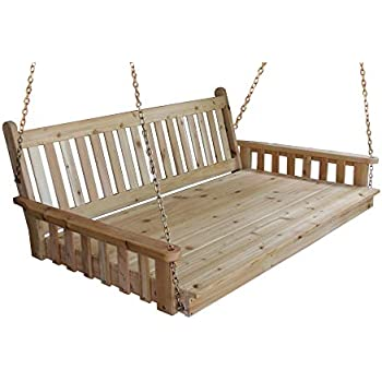 Amazon Com Cypress Porch Swing Bed 6 Ft With Heavy Duty