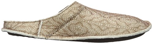 Crocs Unisex Classic Cable Knit Slipper Mule Stucco / Walnut