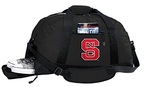 Broad Bay NCAA NC State Duffel Bag - NC State Wolfpack Gym Bags w/SHOE POCKET