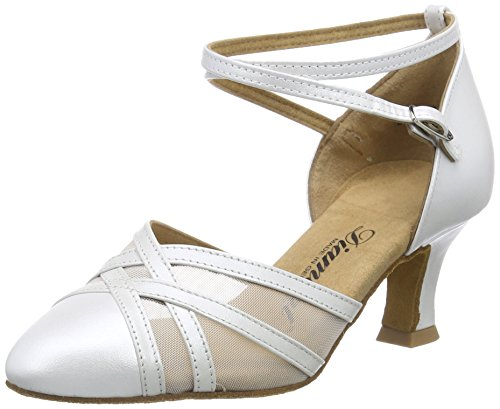 Brown 147 Tanzschuhe 068 Women's Weiß Shoes Perlato Ballroom Damen Dance Diamant 391 wqSCREz