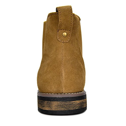 Bruno Marc Men's Urban 06 Tan Suede Leather Chukka Ankle Boots 10 M US FrenzyStyle