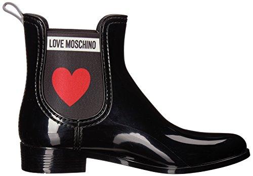para nod SCA Negro Love PVC Botas rainboot30 Moschino Mujer Chelsea PU6qwvf