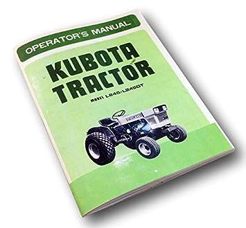 Kubota Tractor L245 L245Dt Operators Owners Parts Manual L245Fp L245Tp on l2500 kubota wiring diagram, l2250 kubota wiring diagram, l2650 kubota wiring diagram, l4200 kubota wiring diagram, l2350 kubota wiring diagram, l285 kubota wiring diagram,