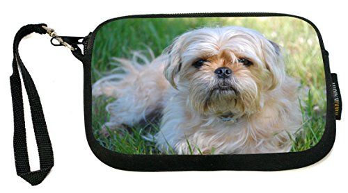 Rikki Knight Yorkshire Terrier and Pug Mix - Neoprene Clutch Wristlet Coin Purse with Safety Closure - Ideal case for Cosmetics Case, Camera Case, Cell Phones, Passport, etc.. (Terrier Mix Puppy)