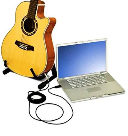 XuBa Cable convertidor de Guitarra eléctrica de 3 m con Interfaz USB Macho a 6,35 mm: Amazon.es: Hogar