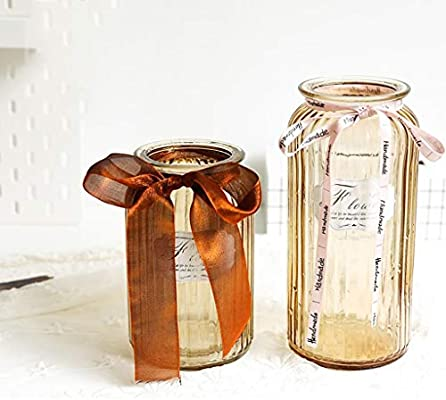 Jccoz Glass Vase Decoration Retro Style Vase Floral Antique Bark