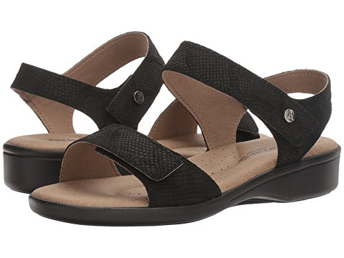 Arcopedico New Women's Galapagos Sandal Black Snake 38