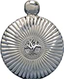 5oz ''Celtic Tree of Life'' Round Flare Flask Mirror Finish
