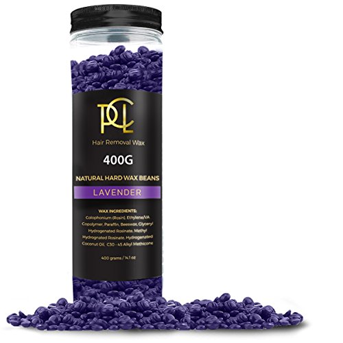 (14oz) Hair Removal Wax Beans, Hard Body Wax Beans, Hair Removal Brazilian Pearl Depilatory Wax European Beads for Women and Men - 400g (Lavender)