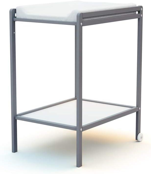 Ateliers T4 Table /à Langer /à Roulettes avec /Étag/ère Brut