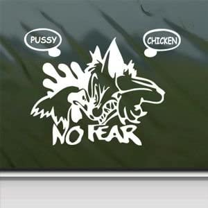 NO FEAR GEAR Vinyl Decal Stickers PUSSY CHICKEN