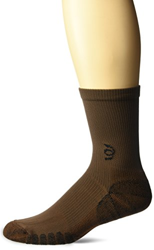Travelsox The Best Dress and Travel Crew Compression Socks TSC, Brown, Large