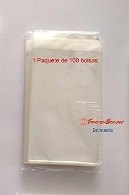 Bolsa de Polipropileno con Solapa Adhesiva de 11 x 16 cm (100 Unidades)