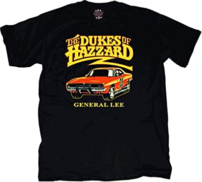 Dukes of Hazzard General Lee T-shirt Black