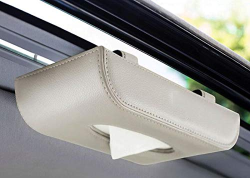 (ZH Hanging Car Tissue Box Holder Car Sunroof Sun Visor Paper Towel Box Napkins Pumping Box, 23.5x12.5x5cm (Color : B-1))