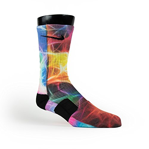 Price comparison product image HoopSwagg Neuron Magic Custom Nike Elite Socks Large Multi