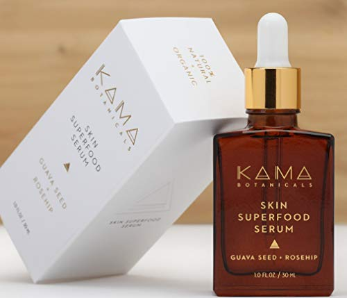 (Kama Botanicals - Organic Anti Aging Serum and Anti Wrinkle Eye Serum, Cruelty Free, Vegan, Facial Oil with Organic Rosehip Oil - 1 oz)