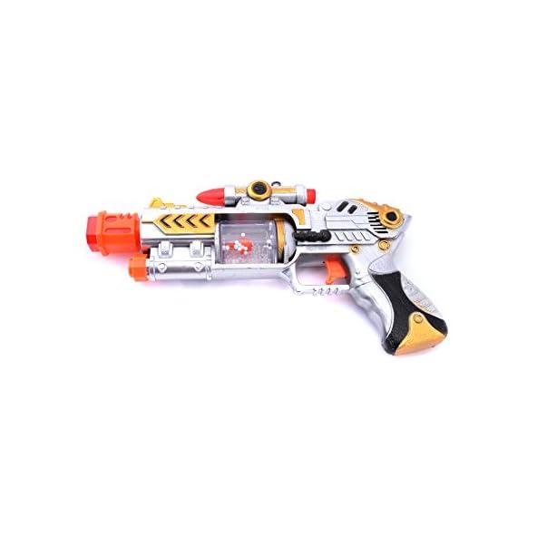 Laser Sound Music Flashing Lights Gun Toy for Kids