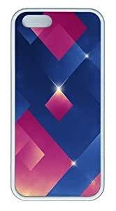 The 3D Blue Pink Light-emitting Body TPU Silicone Rubber iPhone 6 4.7 and iPhone 6 4.7 Case Cover - White