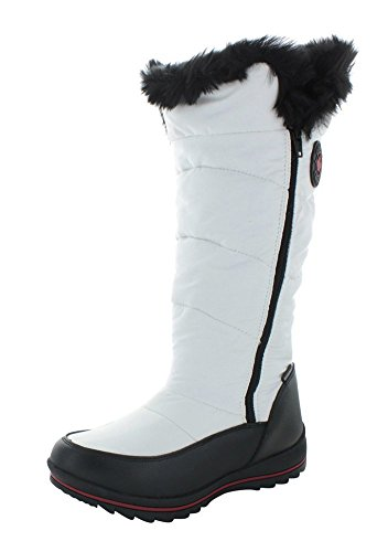 Cougar Bistro Womens Waterproof Nylon Winter Snow Boots White Size 9 ()