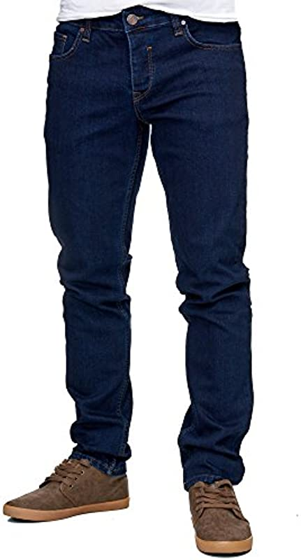 Reslad Jeans-Męskie Slim Fit Basic Style Stretch-Denim Männer Jeans-Hose RS-2063: Odzież