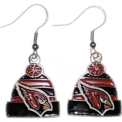 NFL Arizona Cardinals Knit Hat Dangler Earrings