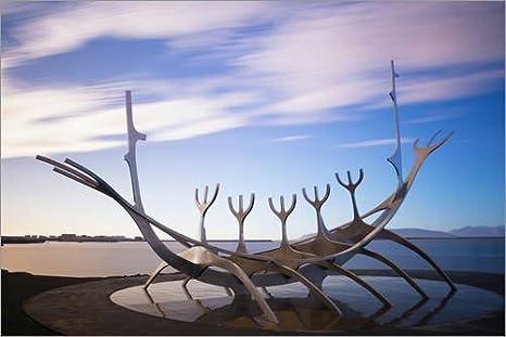 Acrylic print 30 x 20 cm: Viking boat sculpture Solfar by Christian Kober/Robert Harding POSTERLOUNGE