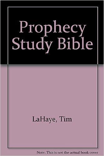 Prophecy Study Bible: New King James Version Bonded Black: Tim F