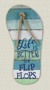 Wooden Flip Flops Wall Plaque ()