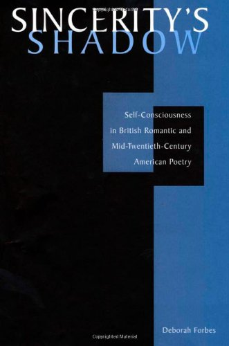 Sincerity's Shadow : Self-Consciousness in British Romantic and Mid-Twentieth-Century American Poetry by Brand: Harvard University Press