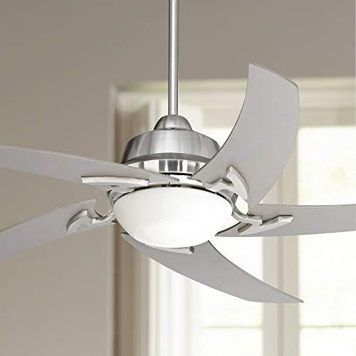 "52"" Casa Vieja Capri LED Brushed Nickel Ceiling Fan - Casa Vieja"