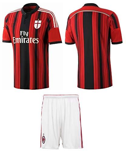90ac3547e65 AC Milan Youth Soccer Jersey Home Short Sleeve Kit Shorts Kids Gift Set (L 8