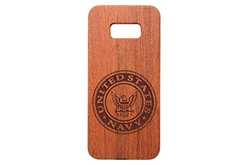 - NDZ Performance for Samsung Galaxy S8 Plus Rosewood Wooden Phone Case Custom Engraved - United States Navy Seal Round