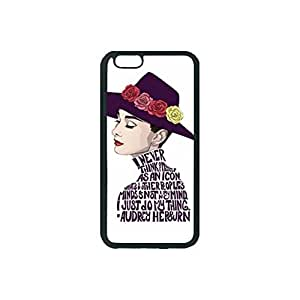 Black, iphone 6 Rubber Case - Audrey Hepburn Quotes Photo Design Durable Rubber Tpu Silicone Case Cover For iPhone 6 4.7