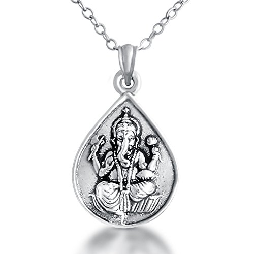 925-sterling-silver-ganesha-elephant-god-om-pendant-necklace-18-inches