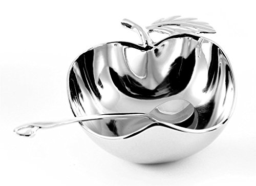 APPLE SHAPED Rosh Hashanah Honey Server - Israel Judaica Jewish Holiday Gift