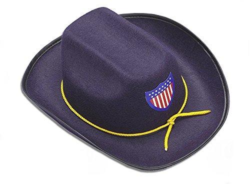 Civil War Union Officer Cowboy Hat Child Costume Accessory Army Soldier Blue (Civil War Union Soldier Kids Costumes)