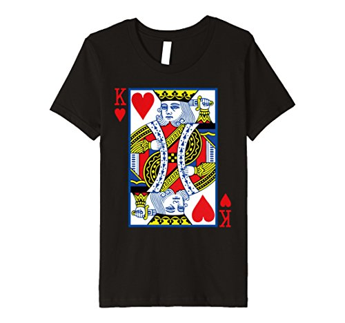 King Of Hearts Costume Kids (Kids King of Hearts Costume Shirt Playing Card Poker T-Shirt 4 Black)