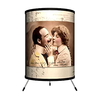 "Lamp-In-A-Box TRI-VAR-Lover Various - Lovers Postcard Tripod Lamp, 8"" x 8"" x 14"""