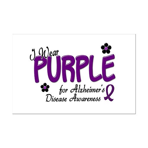 CafePress I Wear Purple 14 (Alzheimers Awareness) Mini Poste Mini Poster Print