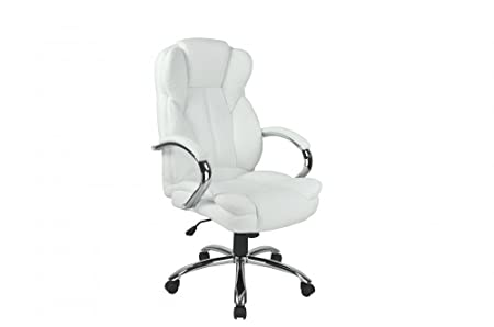 High Back PU Leather Executive Office Desk Task Computer Chair w Metal Base