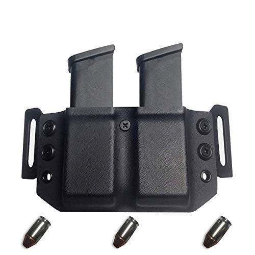Elite Force Holsters: Kydex Dual Magazine, Mag Pouch Holster for Glock 45 ACP & 10MM - Black, Right - Acp 10 45 Mm
