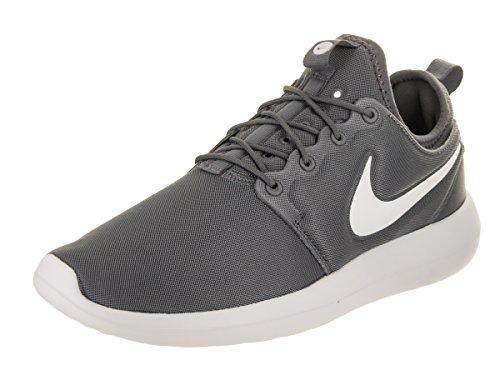 Nike Mens Roshe Två Löparsko Mörkgrå / Ren Platina