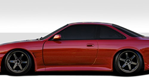 Duraflex ED-DXJ-560 V-Speed Wide Body Side Skirt Rocker Panels - 2 Piece Body Kit - Fits Nissan 240SX - 1995 1996 1997 1998 | 95 96 97 98 (240sx Kits Body)