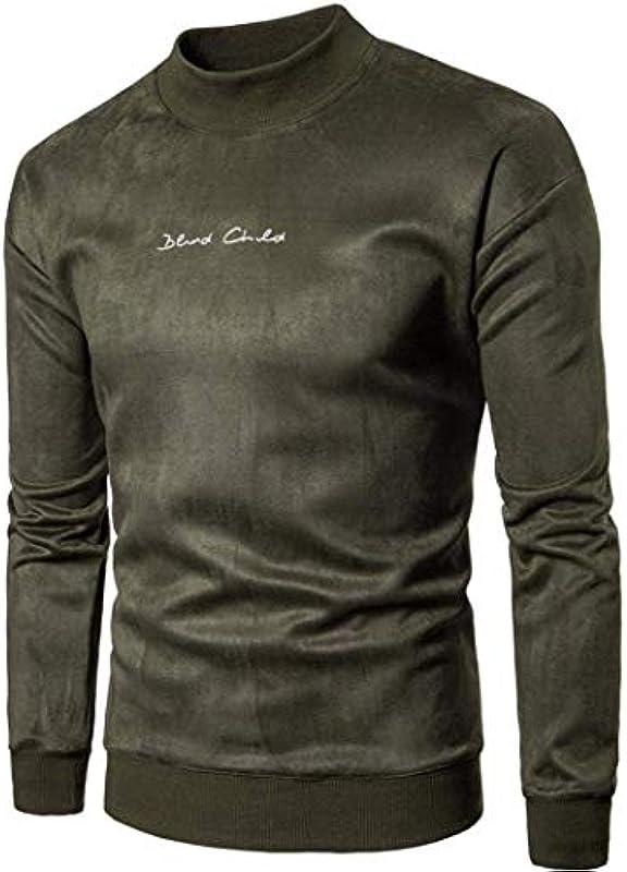 Męskie gÓrne części zima jesień sweter długi rękaw odzież casualowa moda solidny sweter bluza top: Odzież