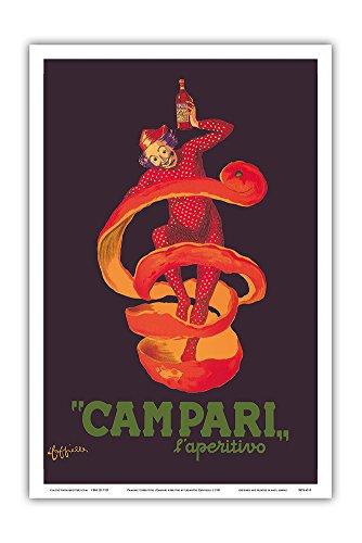 Campari L'Aperitivo (Campari Aperitif) - Clown Wrapped in Orange Peel - Vintage Advertising Poster by Leonetto Cappiello c.1921 - Master Art Print - 12in x 18in
