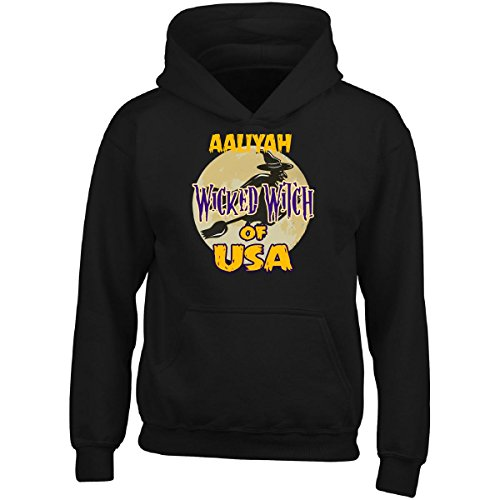 Halloween Costume Aaliyah Wicked Witch Of Usa Great Personalized Gift - Adult Hoodie (Aaliyah Halloween)